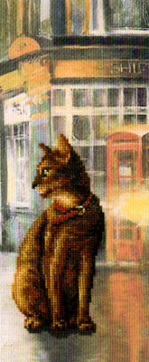 London Cat in Town - A RTO cross stitch Kit