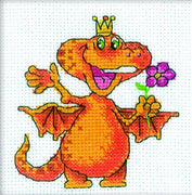 Red Dragon Bringing Happiness - A RTO cross stitch Kit