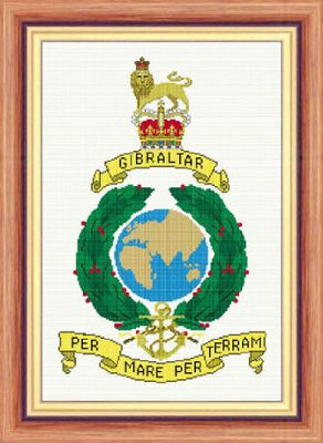 Royal Marines Badge Cross Stitch Design - stitchaphoto