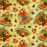 Time to Harvest Quilting Fabrics - Scarecrow - 1.6m length
