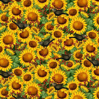 Time to Harvest Quilting Fabrics - Sunflowers - 1.3m length