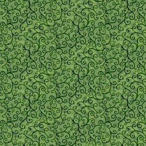 Time to Harvest Quilting Fabrics - Green - 2.5m length