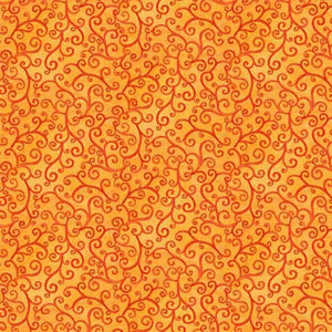 Time to Harvest Quilting Fabrics - Orange - 4m length