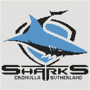 Cronulla Sharks NRL Logo Cross Stitch Design - stitchaphoto