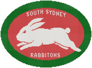 South Sydney Rabbitohs NRL Logo Cross Stitch Design - stitchaphoto
