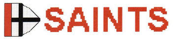 St Kilda AFL Logo Cross Stitch Design for a Bookmark - stitchaphoto