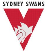 Sydney Swans AFL Cross Stitch Design - stitchaphoto