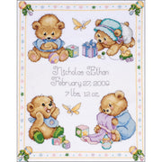 Baby Bear Birth Record - A Tobin Home Crafts counted cross stitch kit