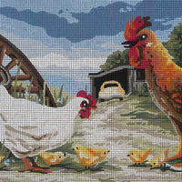 Country Farmyard - A Country Threads Tapestry Canvas