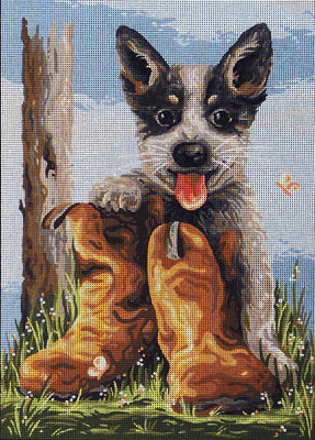 Bluey's Boots - A Country Threads Tapestry Canvas
