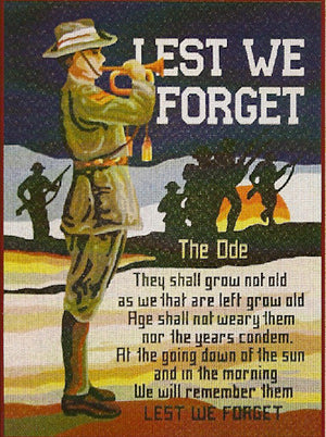 ANZACS - Lest We Forget - A Country Threads Tapestry Canvas