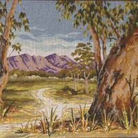 Outback Gum - A Country Threads Tapestry Canvas
