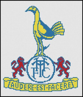 Tottenham Hotspurs Traditional FC Cross Stitch Design - stitchaphoto