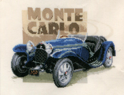 Bugatti Monte Carlo - A Vervaco cross stitch Kit