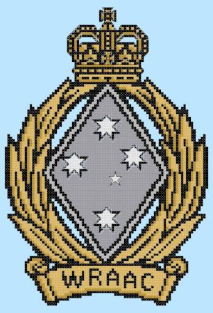 WRAAC Badge Cross Stitch Design - stitchaphoto
