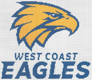 West Coast Eagles 2018 AFL Cross Stitch Design - stitchaphoto