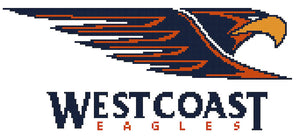 West Coast Eagles AFL Cross Stitch Design (old) - stitchaphoto