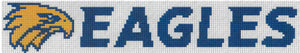 West Coast Eagles AFL Logo Cross Stitch Design for a Bookmark - stitchaphoto