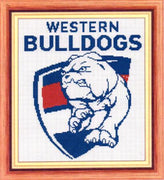 Western Bulldogs AFL Cross Stitch Design - stitchaphoto