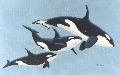 Killer Whales - A Couchman Creations cross stitch chart