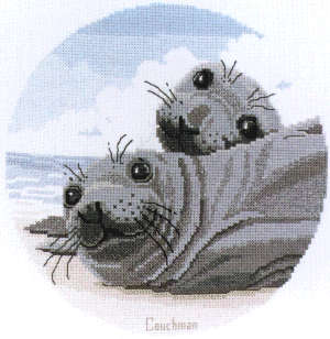 Seal Pups - A Couchman Creations cross stitch chart