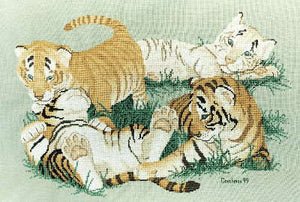 Tiny Tigers - A Couchman Creations cross stitch chart