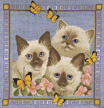 Butterfly Cats - A Couchman Creations cross stitch chart