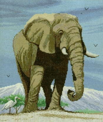 Elephant - A Couchman Creations cross stitch chart