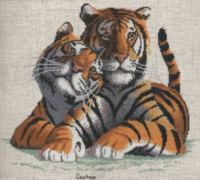 True Love - A Couchman Creations Tiger cross stitch chart