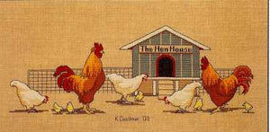 Hen House - A Couchman Creations cross stitch chart