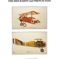 Red Barron and French SXIII Aircraft - A Ross Originals cross stitch chart