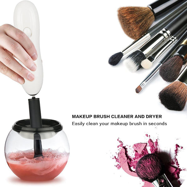Makeup Brush Spinning Clean & Dry