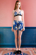 Load image into Gallery viewer, Bralette & Shorts - Blue Floral
