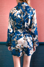 Load image into Gallery viewer, Lia Long Sleeve Tie Top - Blue Floral