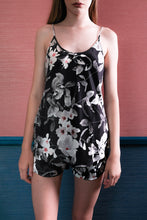 Load image into Gallery viewer, Cami & Shorts - Black-Pink Floral