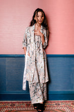 Load image into Gallery viewer, Demi Floral Robe - Nude