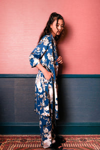Demi Floral Robe - Blue