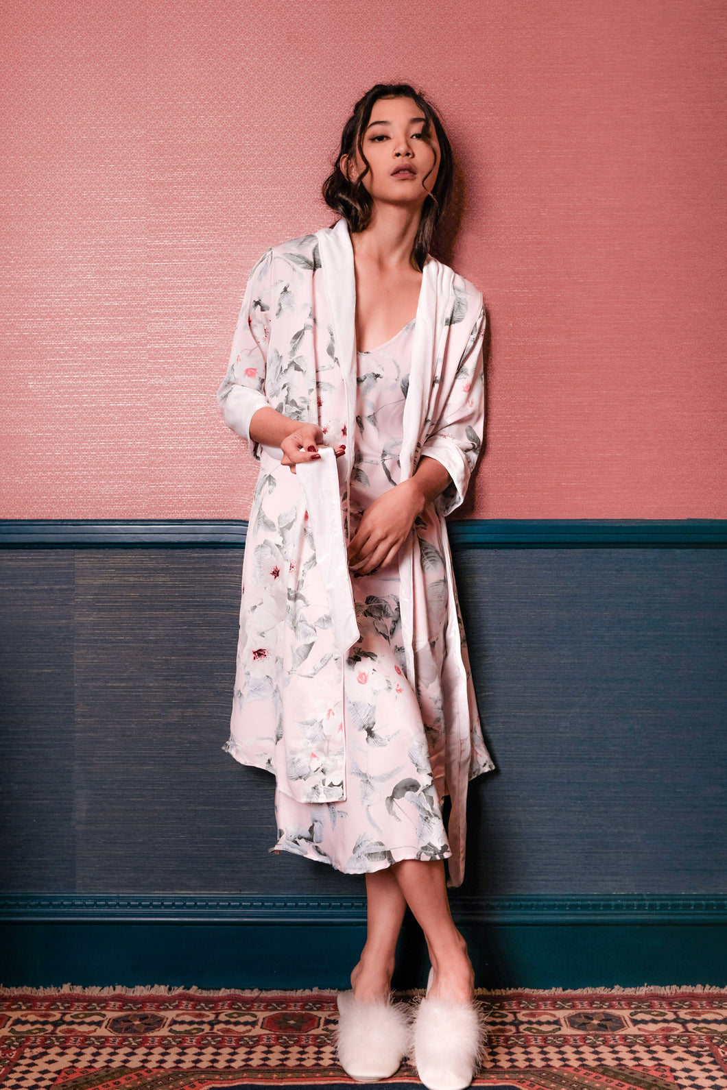 Demi Floral Robe - Pink