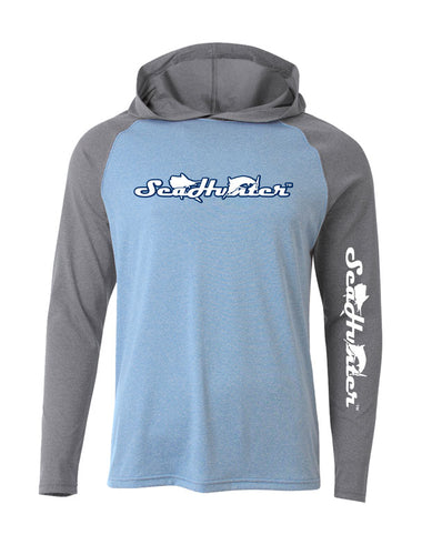 SeaHunter Blue and Grey Dri-Fit Hoodie