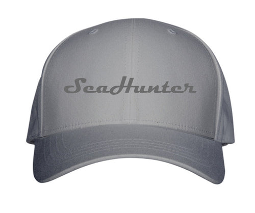 Vintage Grey SeaHunter Snapback Hat with Grey 3D Puff Logo