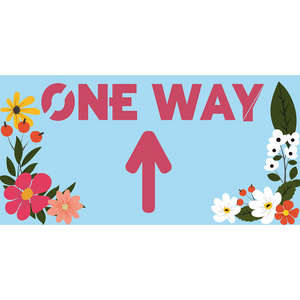 Floral One Way Floor Stickers