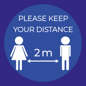 Keep Your 2m Distance Floor Stickers
