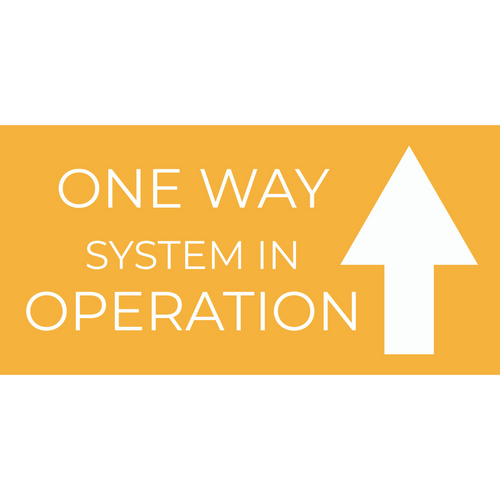 One Way System Floor Stickers Rectangle