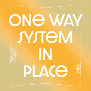 Christmas One Way System Floor Stickers