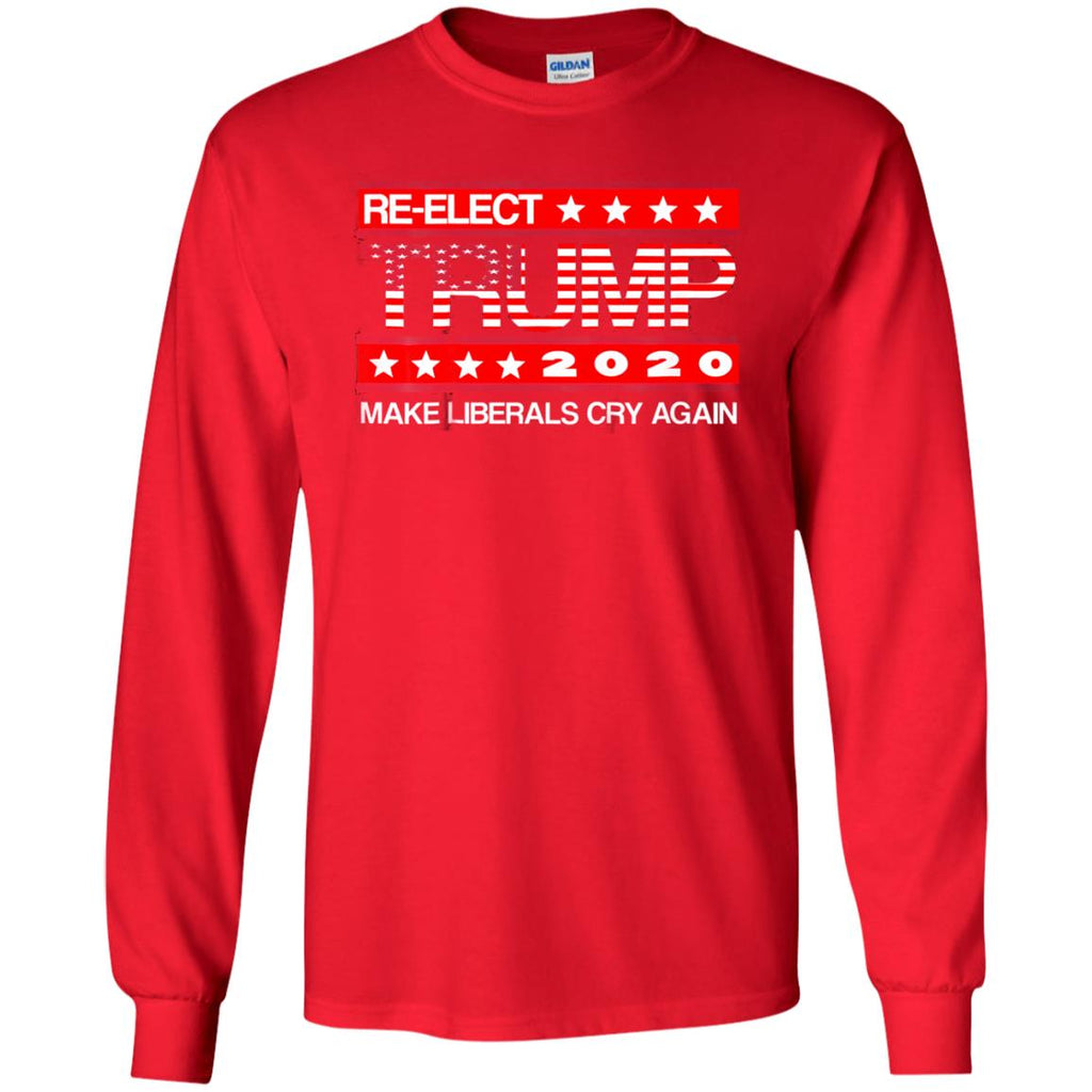 132dc224f87 Donald Trump Election 2020 Make Liberals Cry Again Gop Red Long Sleeve Tee  - zazatee