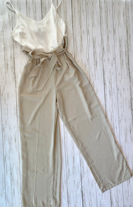 Classic Jumpsuit in Tan