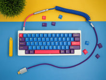 Load image into Gallery viewer, MelGeek Handmade Coiled USB Cable with Aviator GMK Iris Colorway|melgeek.com