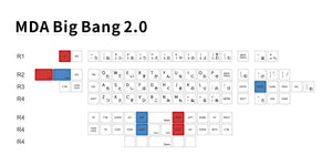 MelGeek MDA Big Bang 2.0 Ortholinear Keycaps Set Custom Mechanical Keyboard Keycaps | MelGeek.com - MelGeek