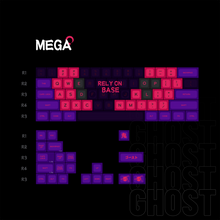 Load image into Gallery viewer, 【GB ENDS】MelGeek MG Ghost ABS Doubleshot  Custom Keycap Set