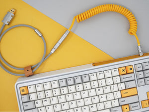 MelGeek Handmade USB Cable Coil on the Keyboard Side Heavy Industry Colorway |melgeek.com